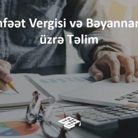 Mənfəət Vergisi Bəyannaməsi təlim