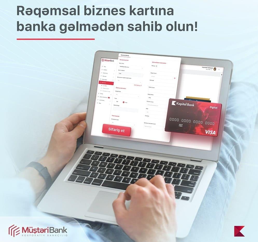 rəqəmsal biznes kartı Kapital Bank